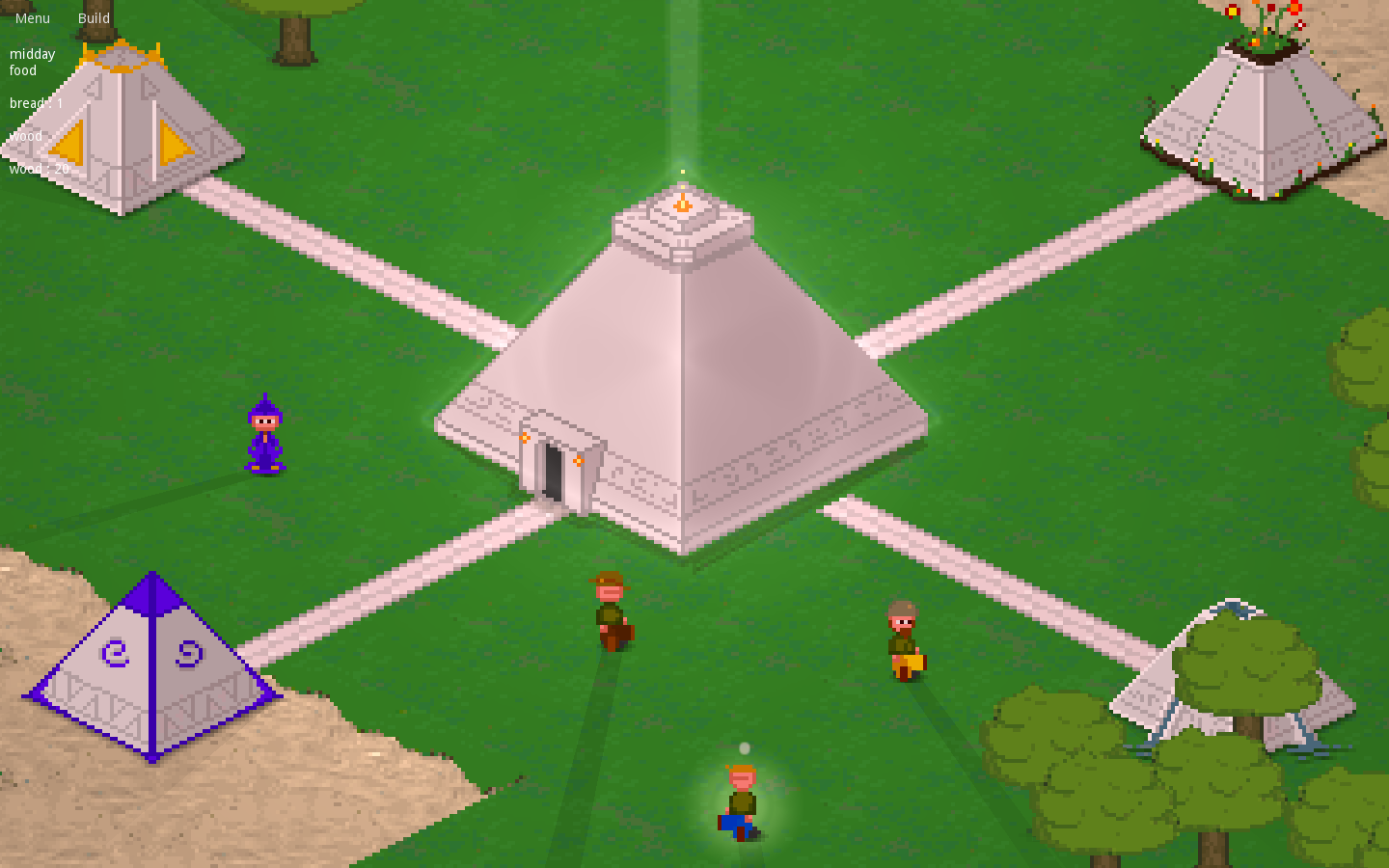 ingame development footage of isometric city builder power of the ancients